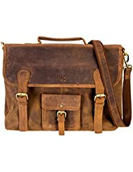 Handolederco 16 genuine leather satchel messenger briefcase mens bag leather laptop messenger womens bag