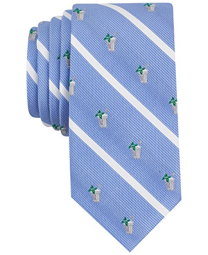 Mens Ties Macys (Bar III Men's Mint Julep Conversational Skinny Tie, Only at Macy's (Blue, NO SIZE))