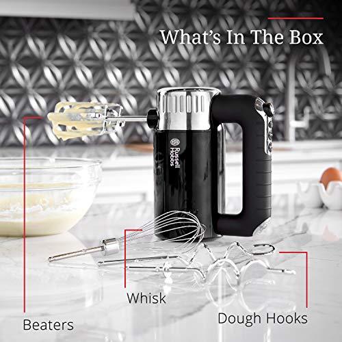 Remington Russell Hobbs MX3100RDR Retro Style Hand Mixer, 4 Speeds + Turbo Boost, Black