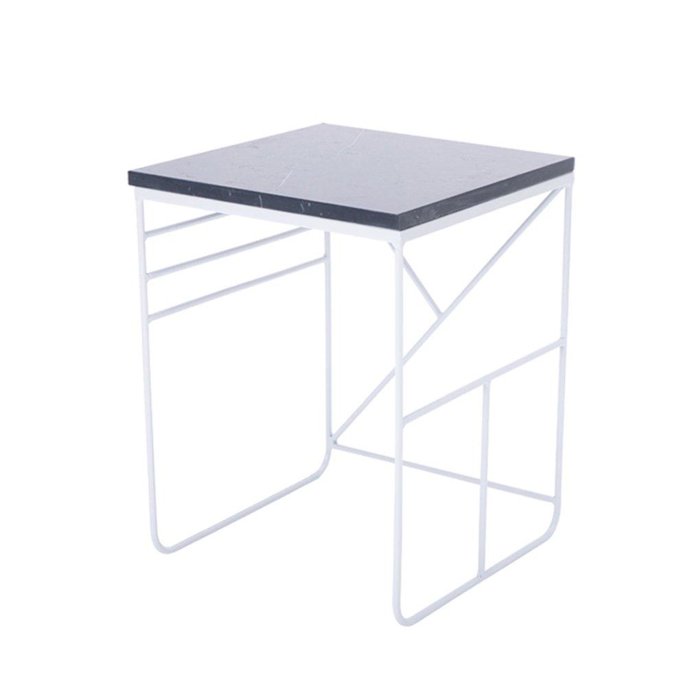 CSQ 大理石交渉テーブル、北欧スタイルのリビングルームスクエア小さな正方形テーブルコーナーいくつかのサイドテーブルコーヒーテーブル鉄のアートダイニングテーブルコーヒーテーブル読書テーブルレジャーテーブル装飾テーブル (色 : White#2, サイズ さいず : 40*40*53cm) B07DZKQS9Q 40*40*53cm|White#2 White#2 40*40*53cm