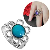 Inspiration Sun Flower Mood Ring Can Change The Color And Adjust The Size Of The Decorations