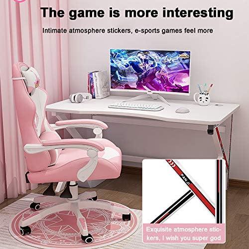 Se7ven Ergonómico Gamer Mesa con Gestión Cables,Montaje Fácil ...