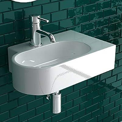 ambesten Bad Küche Aufsatzwaschbecken Waschtisch Waschplatz Keramik Waschbecken