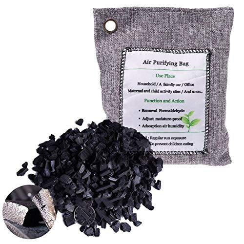 Active Carbon Bags & Boxes - 200g Bamboo Charcoal Home Car Air Freshener Purifier Activated Carbon Bag Shoes Deodorant Absorber - Bag Bags Tray Bamboo Bonsai Active Bamboo Bag Car ()