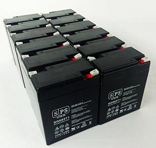 Siemens Gamma Camera LEM SLA Battery 6V 8.5Ah SPS Brand (24 Pack)