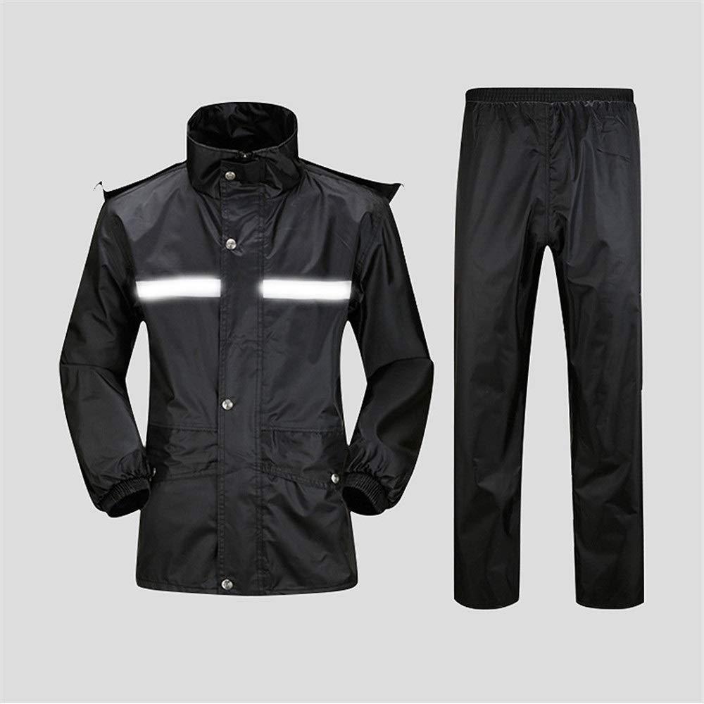 ff89efc80db177 die elektrischen Motorrad-Regenmantel Poncho wandert Wasserdichter  Regenmantel für Herren Color : Black Wasserdichtes Herren-Set Erwachsener  ...