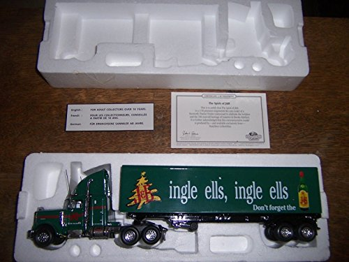 American Scotch Whiskey (Matchbox J&B Scotch Holiday Jingle Bells Kenworth W900 Long Hauler 1:58 Scale Christmas 1995)