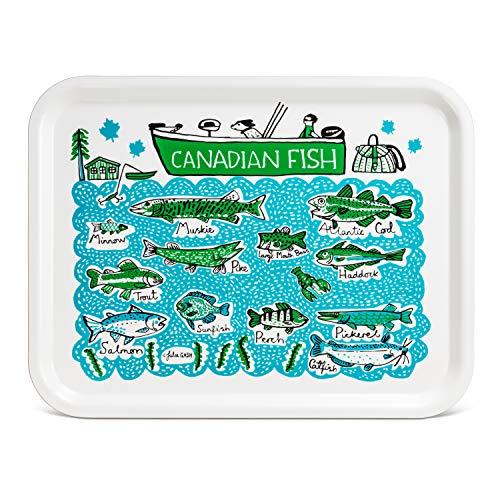 (Abbott Collection 80-TRL-JG-02 Canadian Fish Tray-13x17 L 13 x 17 L Multicolor)