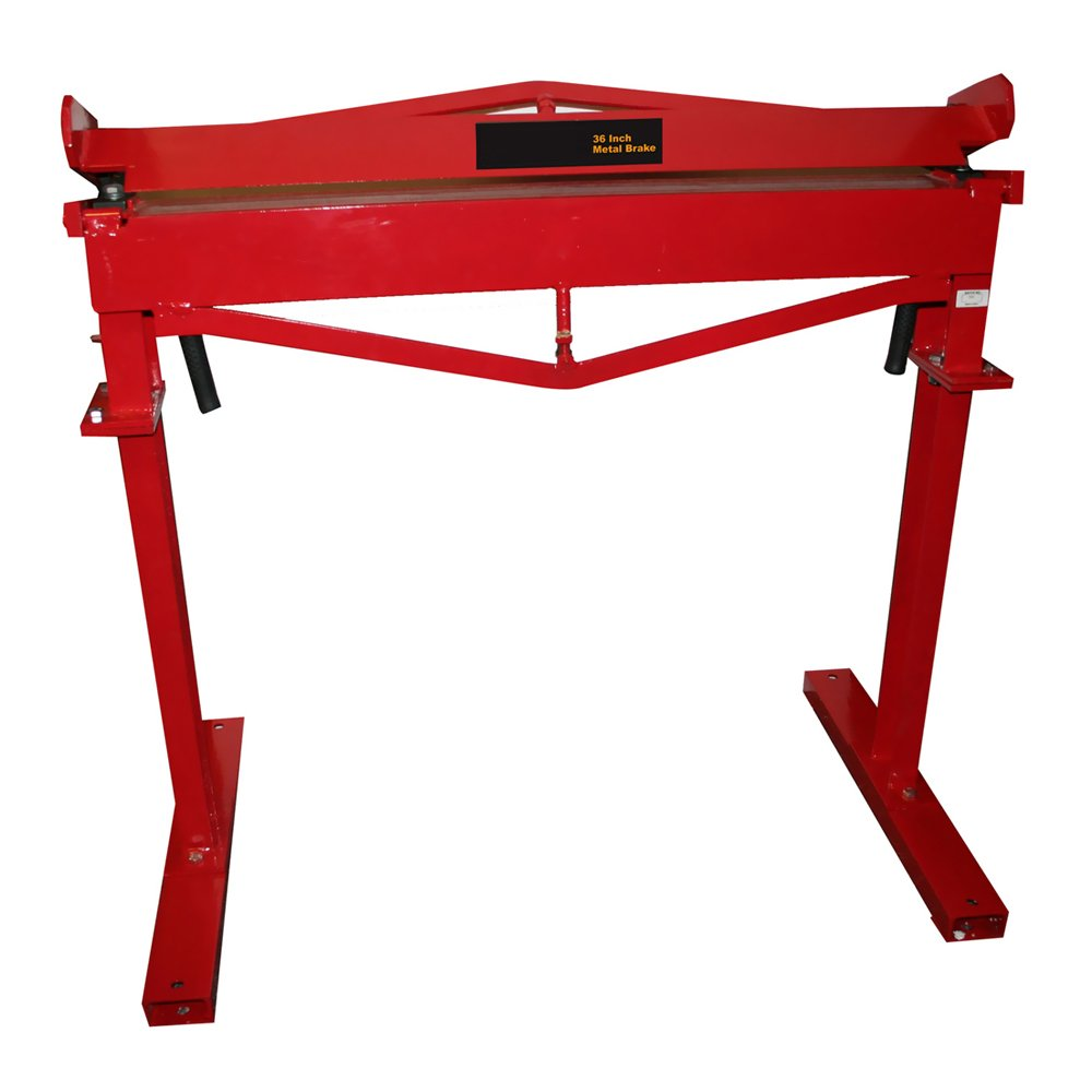 Offex 36'' Metalworking Sheet Bending Machine with Stand - Red