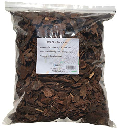 100% Pine Bark Mulch (8 Quart) by Four Winds Trading
