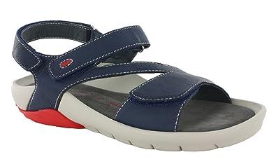 Wolky Womens 1125 Target Denim Blue Italian Softy Sandal - 37