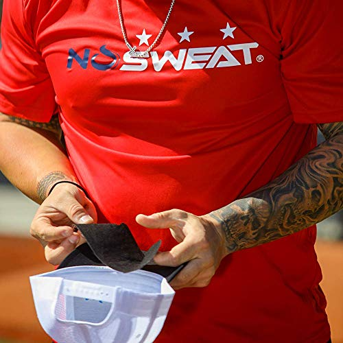 No Sweat Shock Doctor Baseball Hat & Batting Helmet Liner - Absorbs Dripping Sweat/Moisture Wicking Sweatband | Prevent Sweat Stains/Ultimate Hat Saver - (Official, Pro, Softball) (3 Pack)