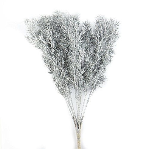 Factory Direct Craft Sparkling Silver Glittered Twig Spray for Holiday and Home (Holiday Sprays)