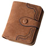 Womens Small Compact Pu Leather Wallet Purses with Card Coin Pouch