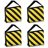 Neewer® Set of Four Black/Yellow Heavy Duty Sand Bag Photography Studio Video Stage Film Sandbag Saddlebag for Light Stands Boom Arms Tripods