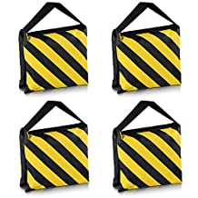 Neewer® Set of Four Black/Yellow Heavy Duty Sand Bag Photography Studio Video Stage Film Sandbag Saddlebag for Light Stands Boom Arms Tripods