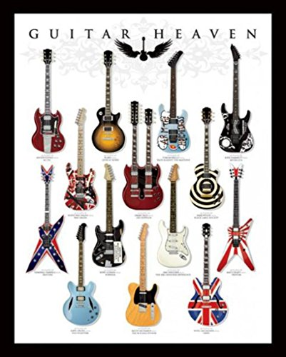 Pyramid America Guitar Heaven Famous Classic Electric Collection Rock Star Music Poster 16x20 inch