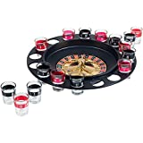 MareLight Shot Glass Roulette Drinking Game Set With Wheel, 2 Balls and 16 Glasses, Fun Adult Party Gift Cups Drinks Birthday Fun Game Set