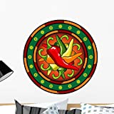 Wallmonkeys Mexican Hot Chili Peppers Logo Wall Decal Peel and Stick Graphic WM247761 (24 in H x 24 in W)