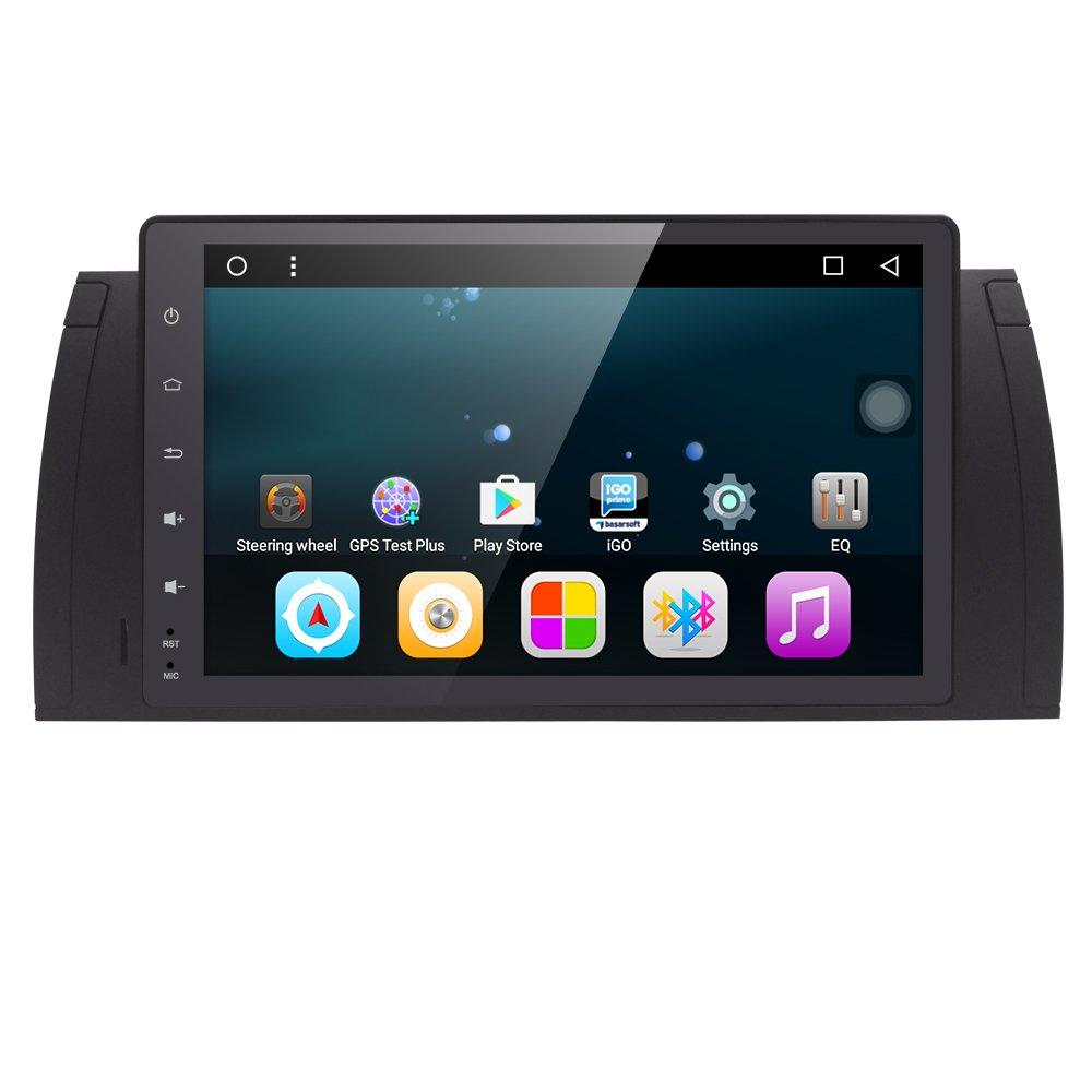 9'' Android 6.0 Car Video Audio Multimedia GPS Player Quad Core Radio For BMW 5 Series E39 X5 E53 M5 7 Series E38