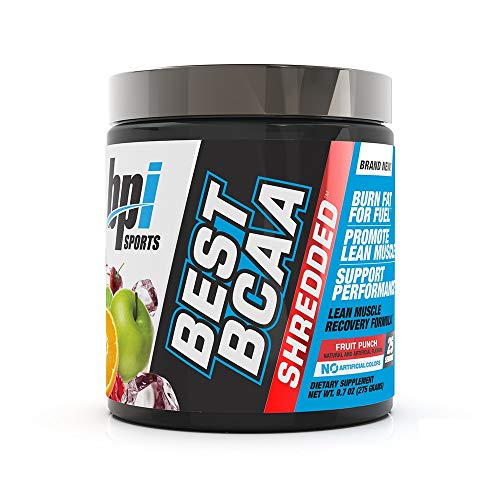 BPI Sports Best BCAA Shredded - Caffeine-Free Thermogenic Recovery Formula - BCAA Powder - Lean Muscle Building - Accelerated Recovery - Weight Loss - Hydration - Fruit Punch - 25 Servings - 9.7 oz. reviews