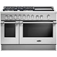 DCS RGV2485GDN 48 Professional Series Gas Freestanding Range with 5 Burners, Sealed Burner, None Drawer, 5.3 cu. ft. Primary Oven Capacity, in Stainless Steel
