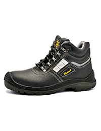 Safetoe 8027 Men's Steel Toe Cap Safety Shoes Waterproof Lightweight Lace Up Leather Work Boots