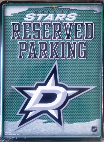 (NHL Dallas Stars 8-Inch by 11-Inch Metal Parking Sign Décor)
