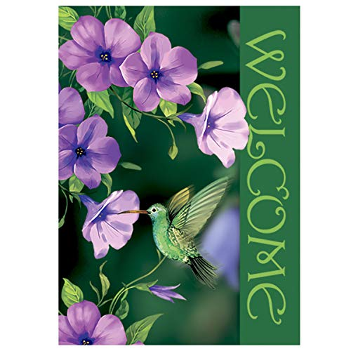 Morigins Welcome Hummingbirds Double Sided Decorative Spring Summer House Flag 28
