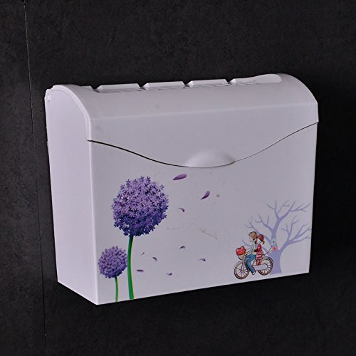 SFSYDDY-Plastic Straw Cardboard Box Toilet Toilet Paper Towel Box Square Waterproof Toilet Carton Free Punching Paper Frame