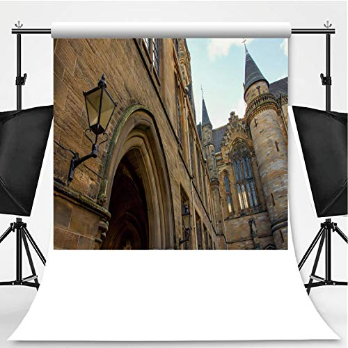 Building at Glasgow University Theme Backdrop Photography Polyester