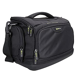 Large DSLR Shoulder Bag Evecase Digital SLR Camera Case with Rain cover, Durable Eva Bottom protection, Tablet Compartment for Mirrorless, Full Frame, Compact System, Micro 4/3 Lens Camera