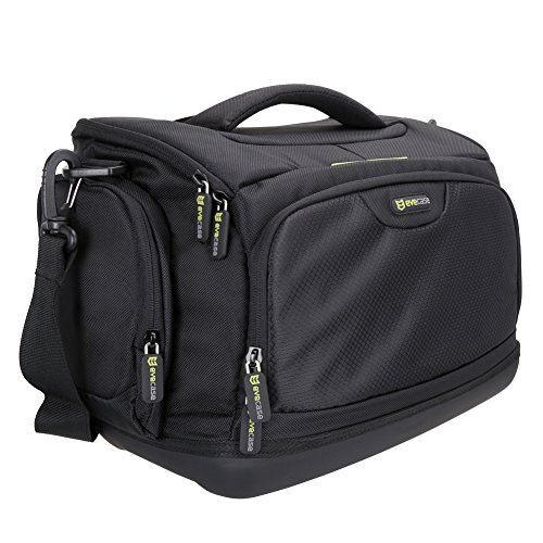 Evecase Large DSLR Shoulder Bag Digita SLR Camera Bag with Rain Cover, Durable Eva Bottom Protection, Tablet Compartment for Mirrorless, Full Frame, Compact System, Micro 4/3 Lens Camera