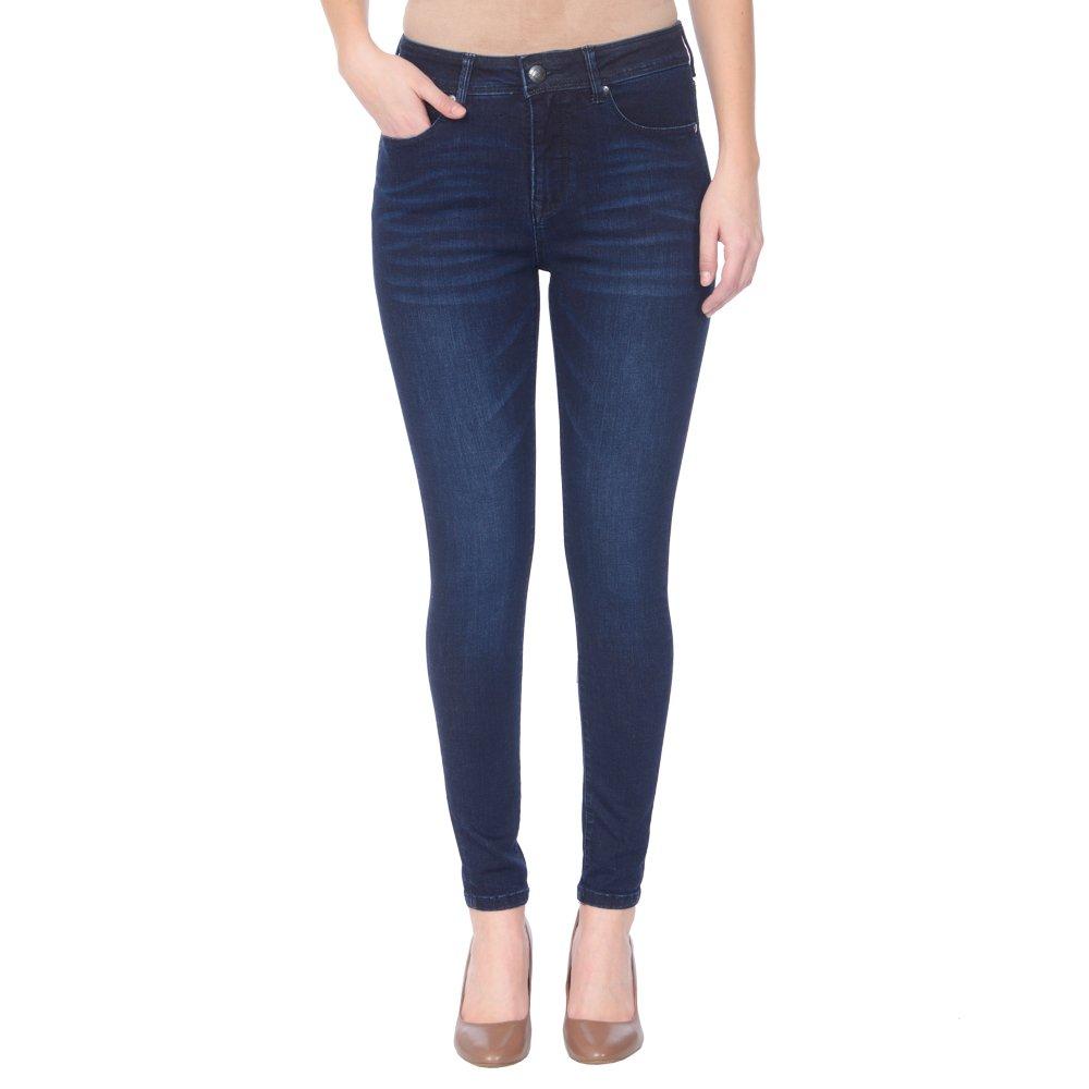 Midnight bluee Lola Jeans Women's Alexa High Waist Stretch Skinny Jean