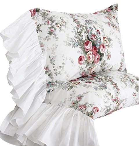 (Queen's House Red Roses Bed Sheet Sets 4-Piece Full Size-Style C)
