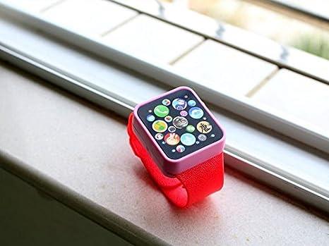 Reloj cotidiana Niños multifunción inteligentes niños Bambin táctil pantalla táctil juguete reloj digital (rojo)