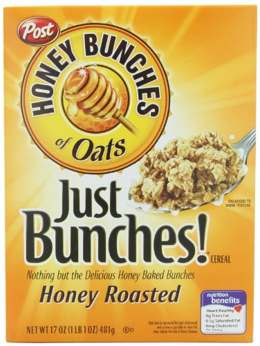 amazon com honey bunches of oats just bunches honey roasted cereal