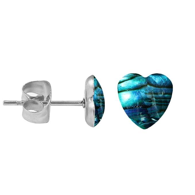 1 Paar Ohrringe Chirurgenstahl Ohrstecker Perlmutt Herz