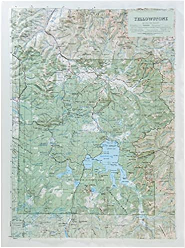 Hubbard Scientific Raised Relief Map 419 Yellowstone National Park on