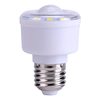 Haofy Bombilla de Sensor de Movimiento Infrarrojo 10 LED Detector de Movimiento Automático para Pasillo,