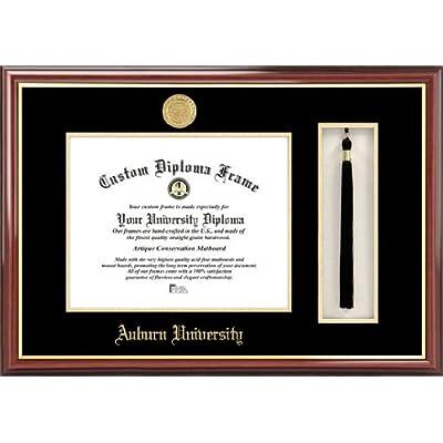 Image of Campus Images AL992PMHGT Auburn University Tassel Box and Diploma Frame, 13' x 17' Diploma Frames