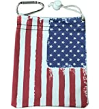 Giggle Golf Microfiber USA Flag Tee Bag with Four Wood Tees