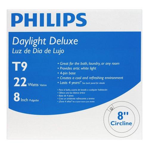 046677392352 - Philips 392357 Circline Fluorescent 22-Watt 8-Inch T9 Daylight Deluxe Light Bulb carousel main 2
