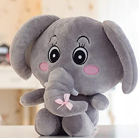 Amazon.com: Zhahender Cute and Soft Adorable Soft Toy Elephant Stuffed Animal Doll(Grey): Toys & Games