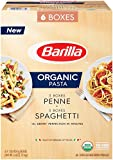 Barilla Organic Pasta, Spaghetti & Penne, 16 Ounce (Pack of 6)