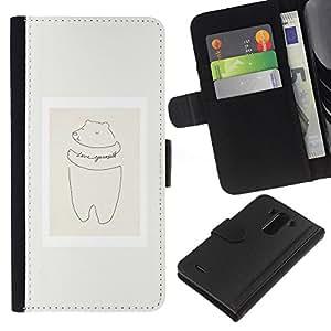 KLONGSHOP // Tirón de la caja Cartera de cuero con ranuras para tarjetas - Cerdo Cita minimalista Marco en colores pastel - LG G3 //