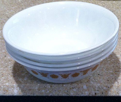 Corelle Butterfly Gold - Corning Corelle Butterfly Gold Soup & Cereal Bowls - Set of 4 Bowls