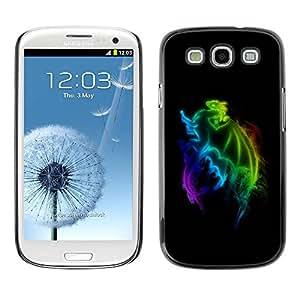 Caucho caso de Shell duro de la cubierta de accesorios de protección BY RAYDREAMMM - Samsung Galaxy S3 I9300 - Rainbow Dragon