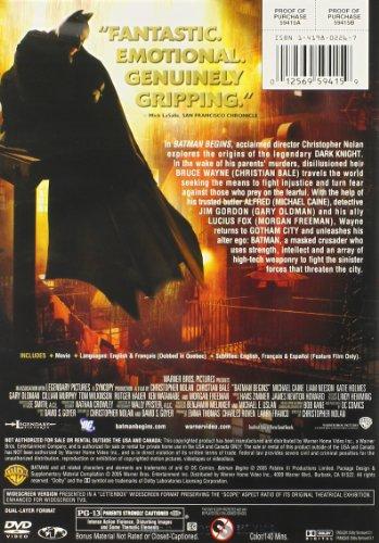 012569594159 - Batman Begins (Single-Disc Widescreen Edition) carousel main 1