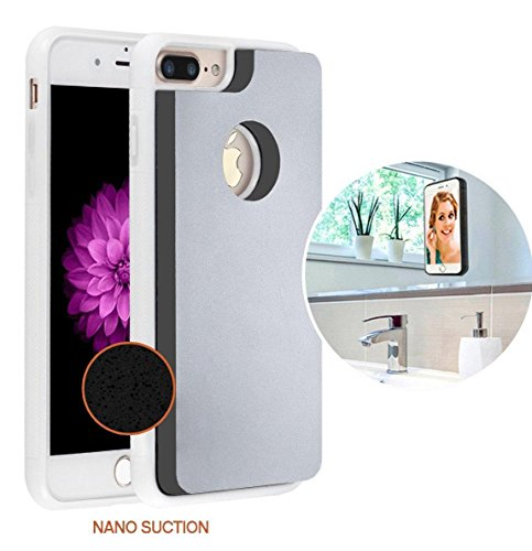 Paste Case (IPhone 6s Plus / iPhone 7 Plus Case / iPhone 8 Plus Case , AIRY CASES Anti Gravity Phone Case Magical Nano Can Stick to Glass, Whiteboards, Tile and Smooth Surfaces — White)